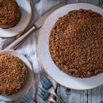 Drømmekage, dänischem Traumkuchen, Vanille-Kuchen mit Kokos-Karamell-Topping / Danish vanilla cake with cocos caramell topping [wienerbroed.com]