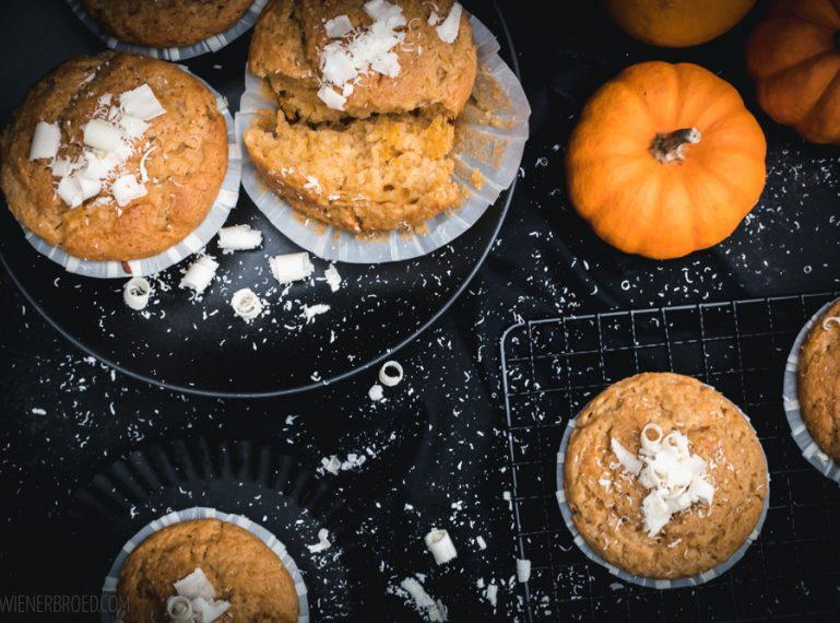 Kürbis-weiße Schokolade-Muffins – So Kürbis, jetzt biste dran…