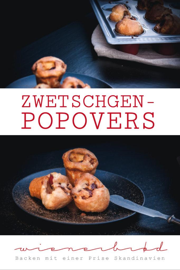 Zwetschgen-Popovers, superfluffiges Gebäck mit Zwetschgen und Zimt & Zucker, wie schwäbischer Pfitzaufs / Damson plum popover [wienerbroed.com]