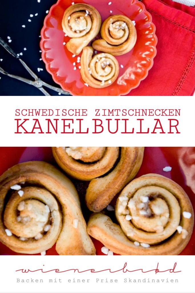 Rezept für original Kanelbullar, die schwedische Zimtschnecke, für Bullerbü-Feeling, Zimtschnecken-Rezept, Schnecken wie bei Ikea / Swedish cinnamon bun [wienerbroed.com]