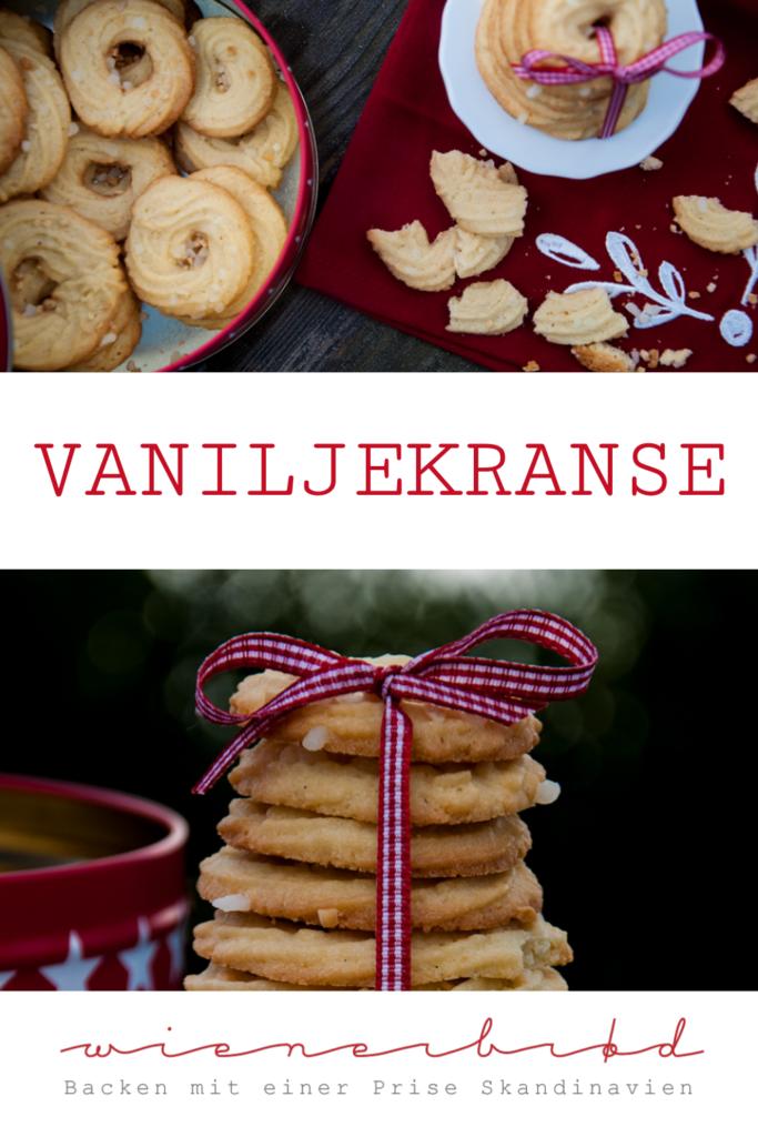 aniljekranse, dänische Vanillekränze, knusprige Klassiker der dänischen Weihnachtszeit, perfekt für 'julhygge' / Vaniljekranse - Danish vanilla wreaths, a crispy classic during Danish christmas time, perfect for 'julhygge [wienerbroed.com]