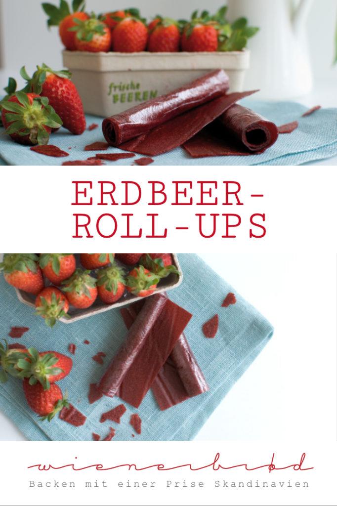 Erdbeer-Rpll-Ups, Fruchtleder, perfekter Snack für zwischendurch / Strawberry roll-ups [wienerbroed.com]