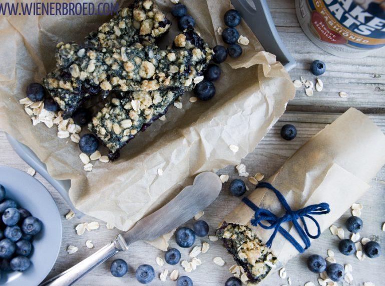 Haferflocken-Blaubeer-Kuchen {Blaubeeren zum Frühstück? Na klar!}