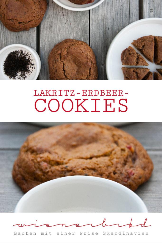 Lakritz-Erdbeer-Cookies / Licqurice strawberry cookies [wienerbroed.com] Supersofte Cookies mit feiner Lakritz-Note und frische Erdbeeren / super soft cookies with a lhint of licquorice and fresh strawberries