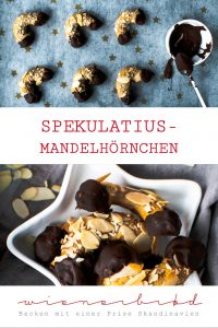 Spekulatius-Mandelhörnchen, der Klassiker in der Weihnachtsverionus / Spicy almond crescent, the classic in a Christmas version [wienerbroed.com]