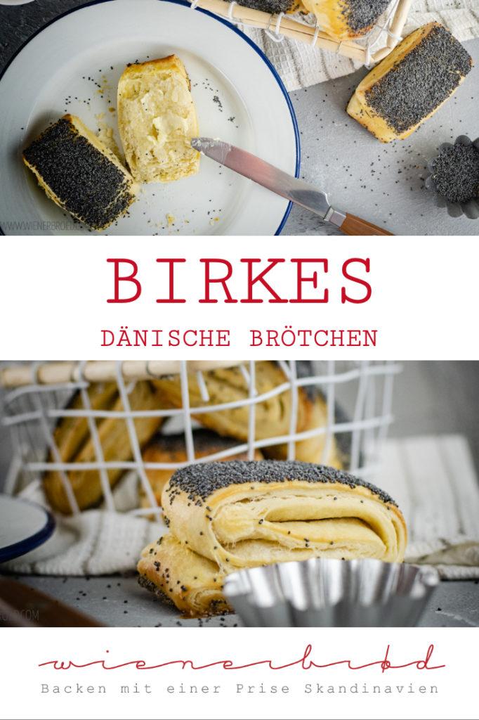 Birkes, dänische Brötchen aus Plunderteig mit Mohn / Birkes, Danish Rolle made of puff pastry with poppy [wienerbroed.com]
