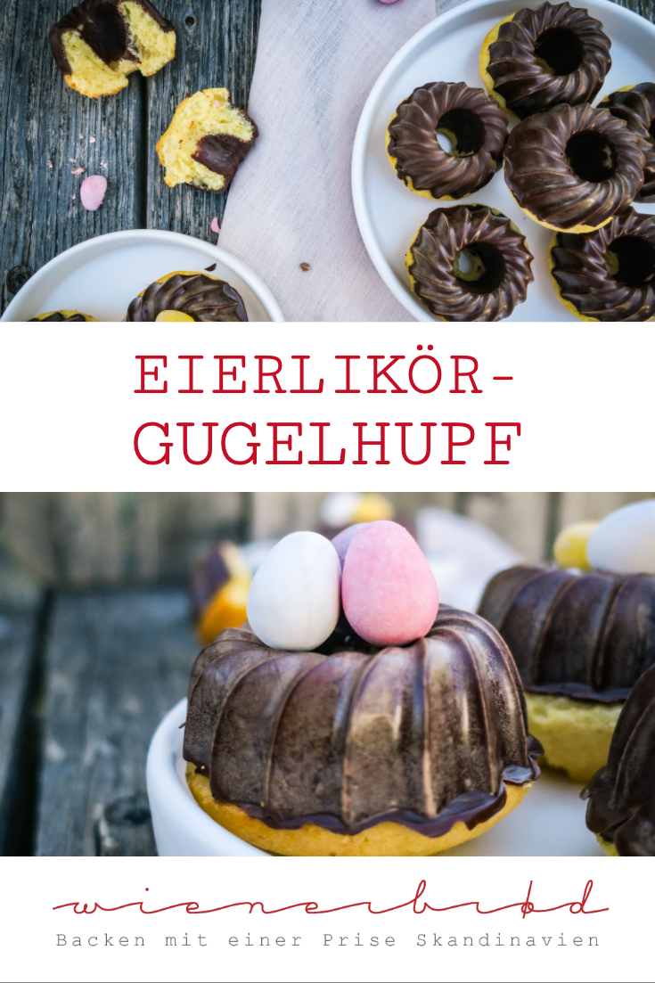 Eierlikör-Gugelhupf, köstliche Mini-Gugelhupfe mit Eierlikör und einem Tipp für die perfekte Schokoladen-Glasur / Advocaat Bundt cake, tasty mini Bundt cakes with egg liquor and a hint fort he perfect chocolate glazing [wienerbroed.com]