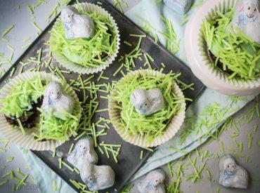 Mäh, heute gibt es hier auf dem Blog kleine Schäfchen, die auf grünen Wiesen grasen. Man könnte natürlich auch kleine Hasen über die Wiesen hoppeln lassen, aber mir gefielen die Schäfchen besser. Zu Ostern passen die aber auch prima, vor Allem in Kombination mit einem beliebten Oster-Kuchen-Rezept. Also gibt es heute Schäfchen-Möhren-Cupcakes. Ja, ich hatte […]