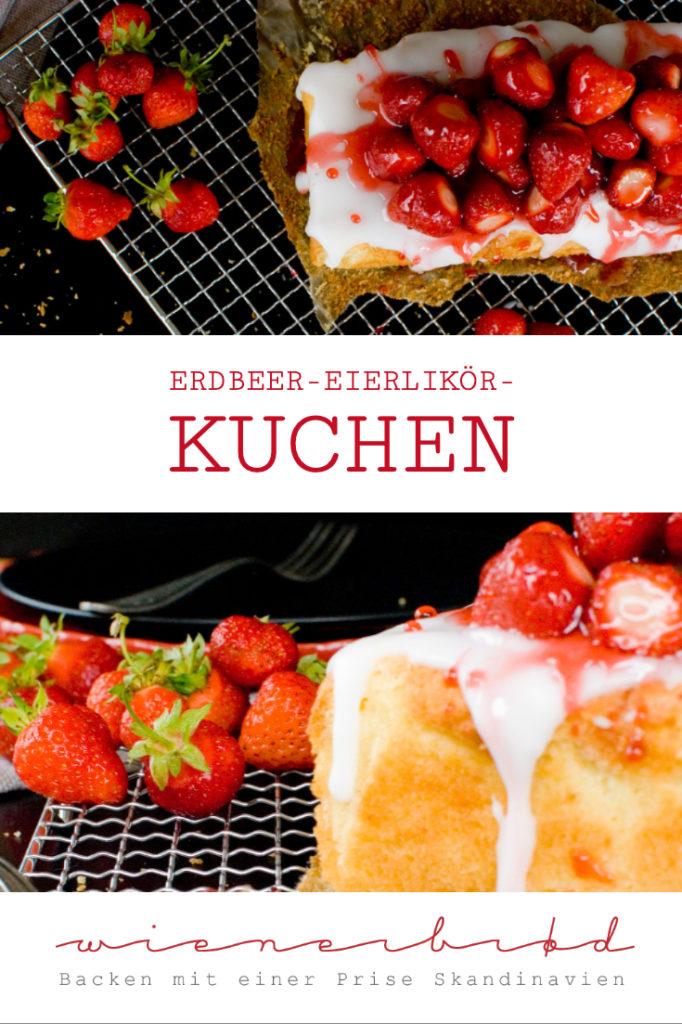 Erdbeer-Eierlikör-Kuchen, saftiger Kuchen mit einem Schwips / Strawberry advocaat cake, juicy cake with a jags [wienerbroed.com]