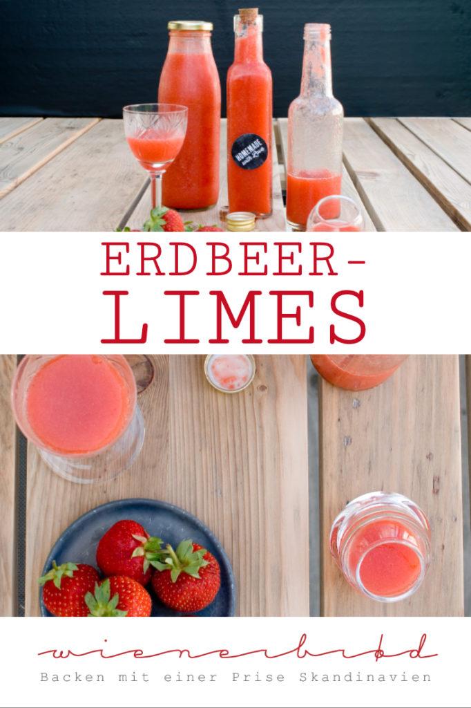 Erdbeer-Limes, DER Erdbeer-Drink mit frischen Erdbeeren und Wodka. perfekt für den Sommer / Strawberry limes [wienerbroed.com]