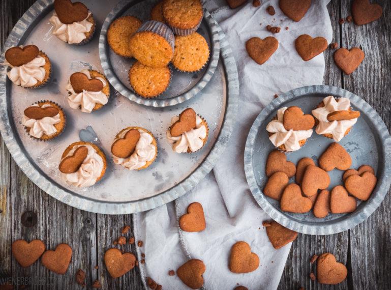 Pepparkakor-Cupcakes – Pfefferkuchen aufgehübscht