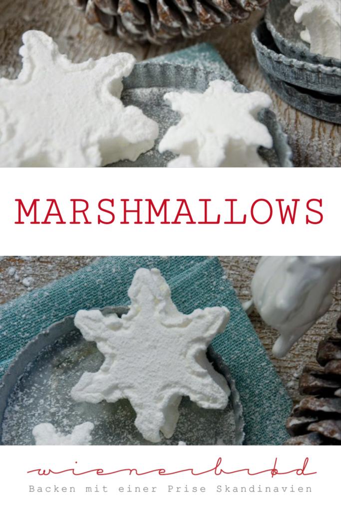 Marshmallows in Schneeflocken-Form, einfaches, schnelles Rezept, perfekt für den Winter / Marshmallows as snowflakes, perfect for winter times [wienerbroed.com]