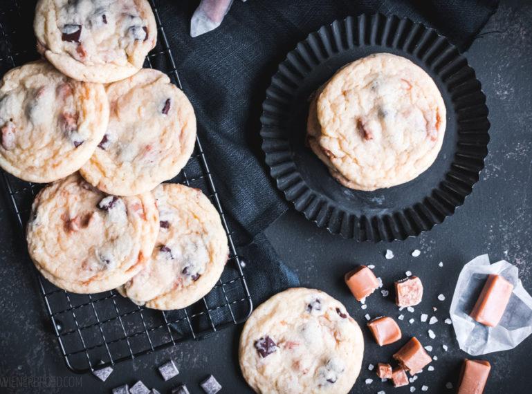 Rezept für Salted Caramel Chocolate Cookies   Quick & dirty