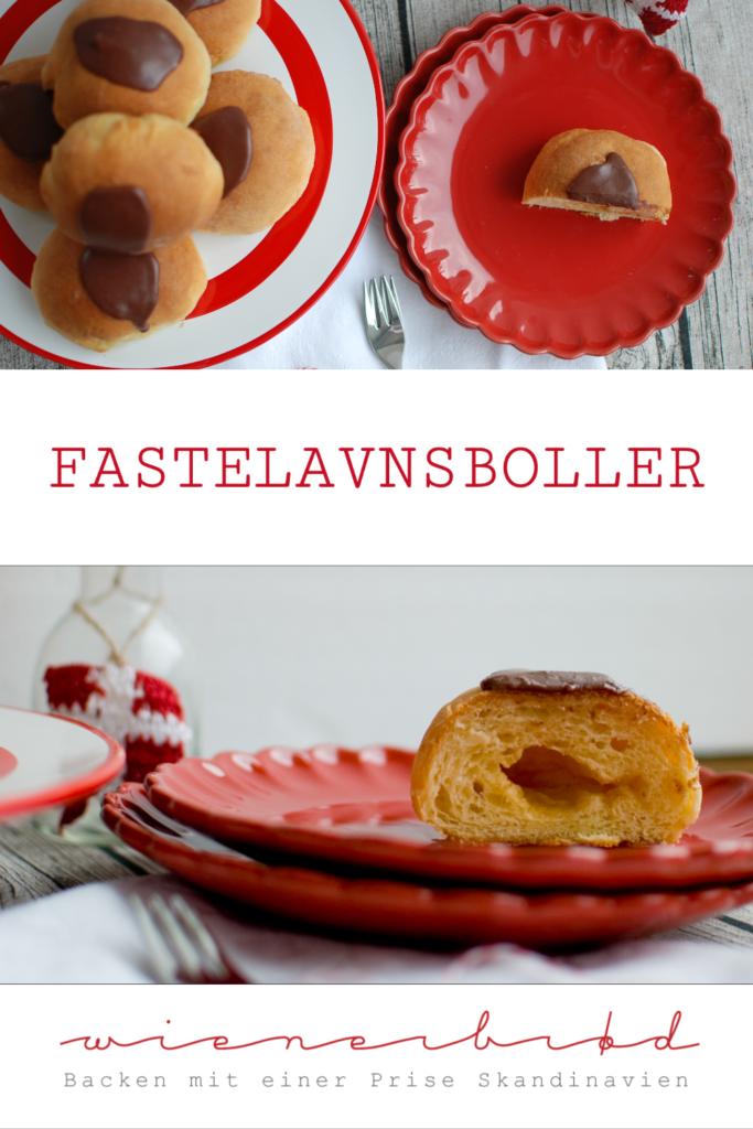 Fastelavnsboller, saftige dänsiche Ofenberliner mit Butter-Zucker-Mischung mit Puderzuckerglasur / Danish baked donuts with butter-sugar filling [wienerbroed.com]