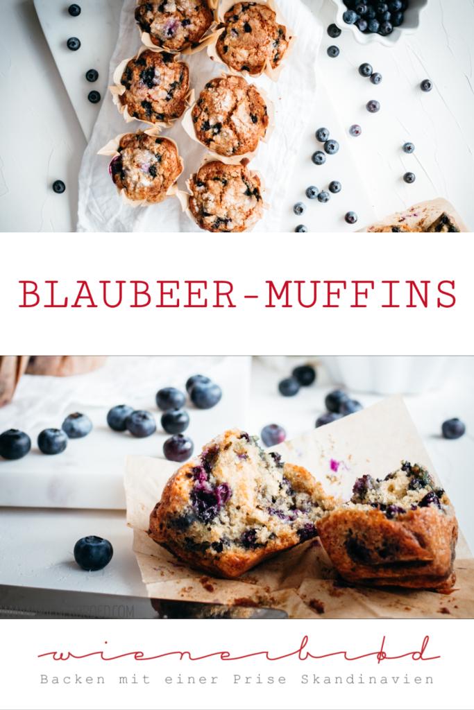 Blaubeer-Muffins, saftige und fluffige Muffins wie im Coffeehouse / Blueberry muffins [wienerbroed.com]