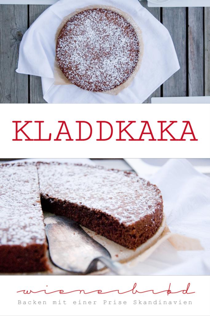 Rezept für Kladdkaka, die schwedische Variante des klitschigen und saftigen Schoko-Kuchens, super-schokoladig und schön klebrig. Quasi ein schwedischer Brownie / Swedish kladdkaka [wienerbroed.com]