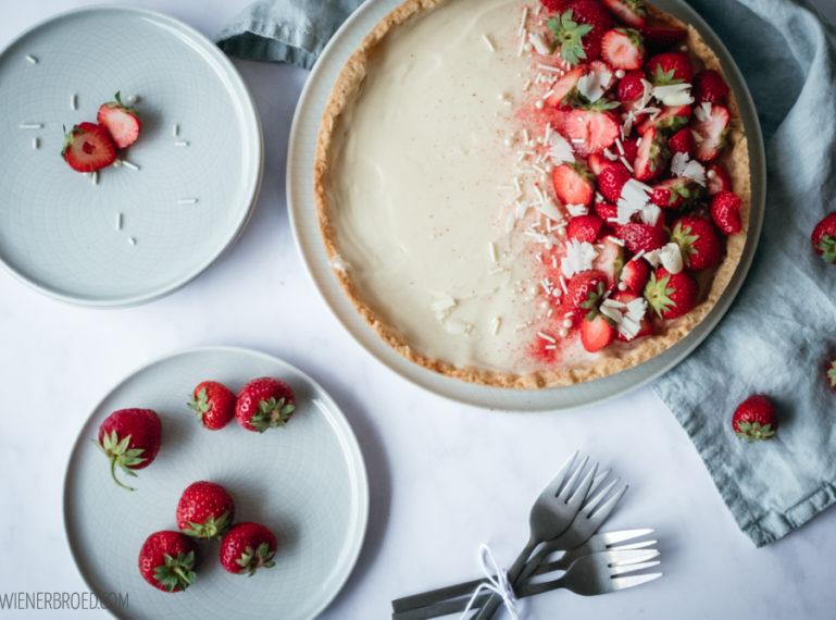 Erdbeer-Weiße Schokolade-Tarte {Jieper auf eine bestimmte Kombi}