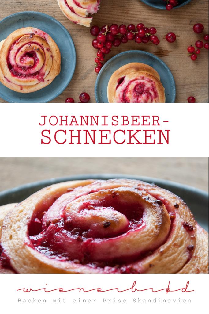 Rezept für Johannisbeer-Schnecken, fluffige Hefeteig-Schnecken mit einer Füllung aus saftigen roten Johannisbeeren / Red currant buns [wienerbroed.com]