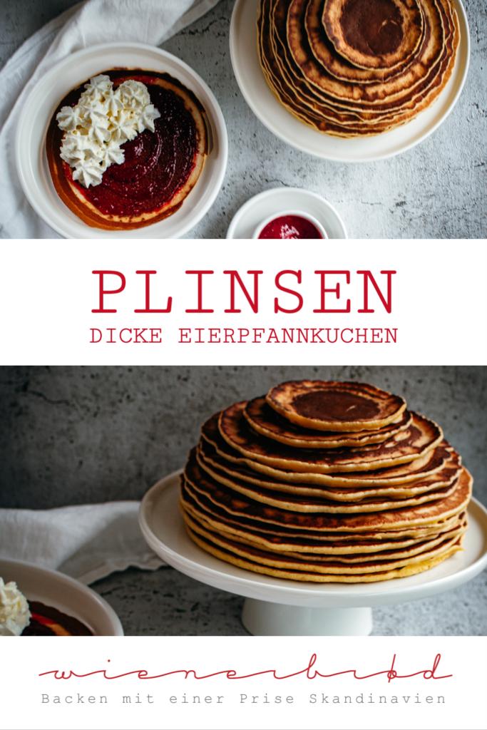 Plinsen, Rezept für große dicke Eierpfannkuchen, mein Familien-Rezept aus der Kindheit, Pfankuchen-Rezept mit Backpulver / Thick German pancakes [wienerbroed.com]
