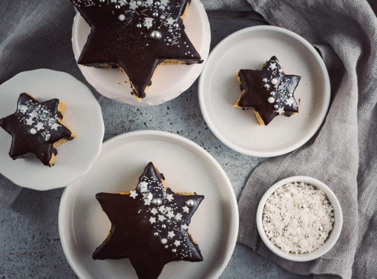 Baumkuchen-Sterne | Sterne statt Böller und die #foodblogbilanz2020