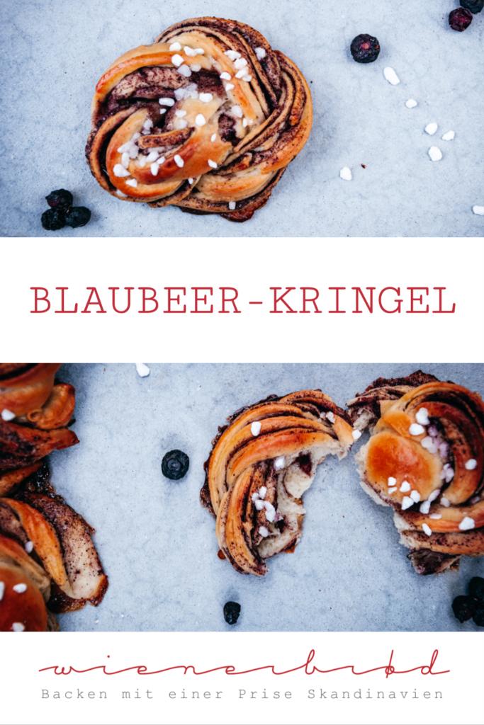 Rezept für Blaubeer-Kringel, saftiger Quarkhefeteig mit Blaubeer-Füllung / Recipe for juicy blueberry buns [wienerbroed.com]