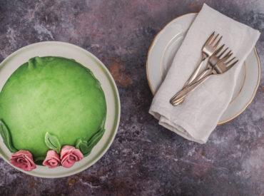 8 Jahre Wienerbrød müssen gefeiert werden, mit der schwedischen Geburtstagstorte, der Princesstårta