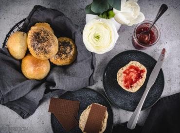 Zu einem Frühstück wie im Dänemark-Urlaub gehören auf jeden Fall frisch gebackene Rundstykker!