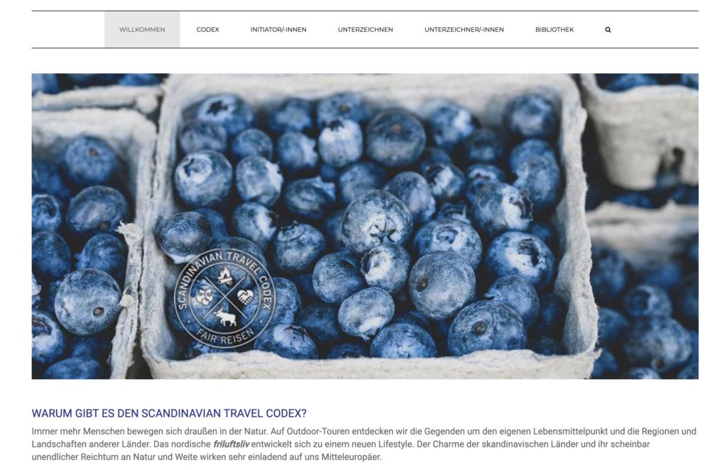 Screenshot des Scandinavian Travel Codexes